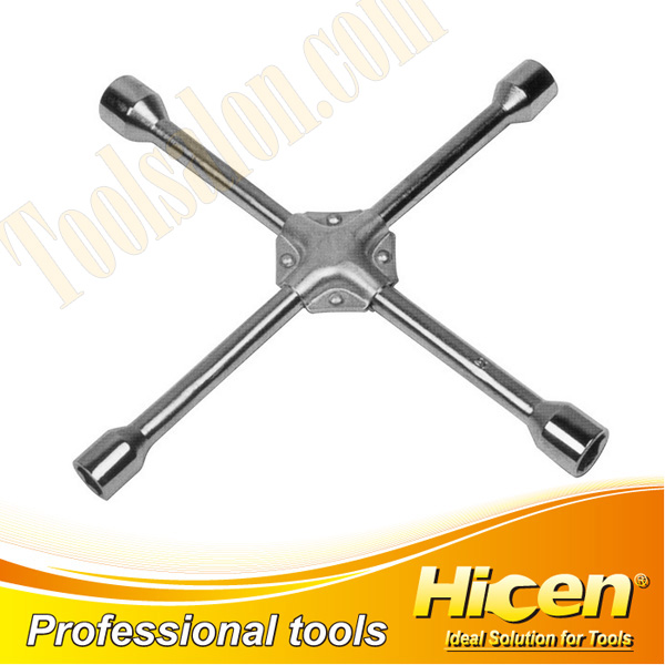Cross Rim Wrench With Iron Pad