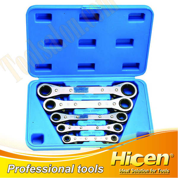 5PCS Ratchet Ring Spanner Set