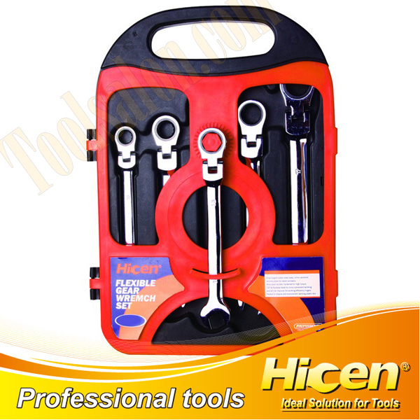 5PCS Flexible Gear Wrench Set