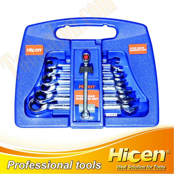 7PCS  Gear Wrench Set