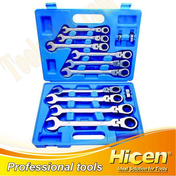 13PCS Flexible Gear Wrench Set