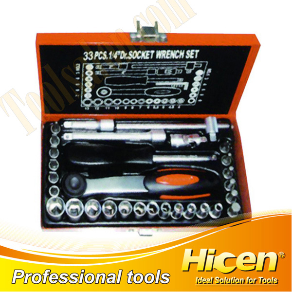 "33 PCS 1/4""  Dr. Sockets Set"