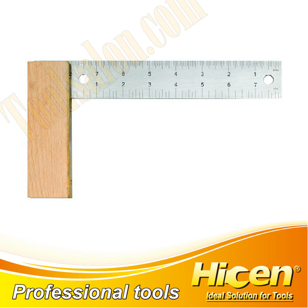 Stainless Steel Angle Square With Wooden Handle
