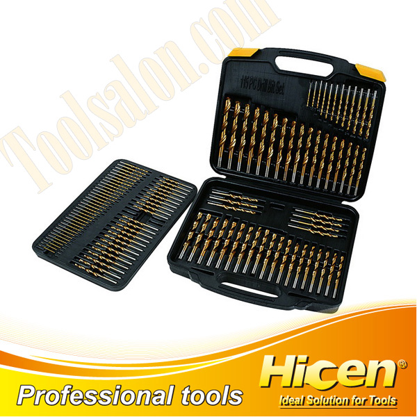 115pcs Woodworking Twist Drill Set