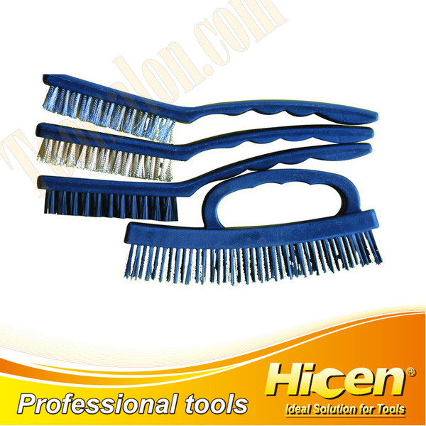 4 PCS Wire Brush Set with Plastic Handle