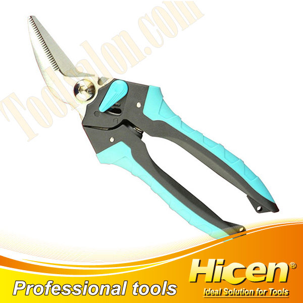 Bent Blades Electrician Scissors with Spring