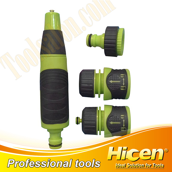 4pcs Basic Hose Nozzle Set with Soft TPR Covered