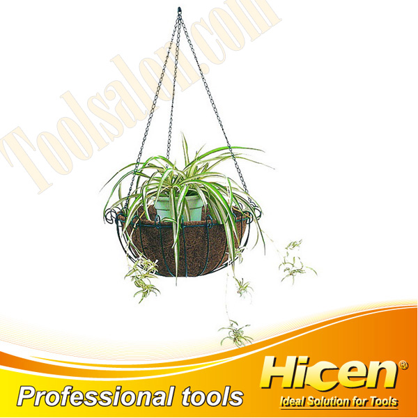 Metal Hanging Basket with Coconut Liner