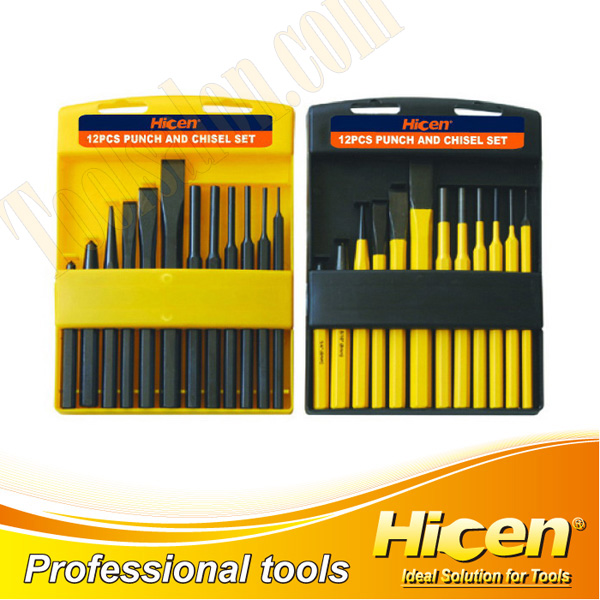 12 pcs Punch & Chisel Set