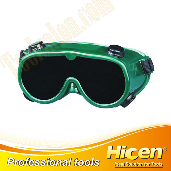 Black Single Inorganic Lens Welding Goggles