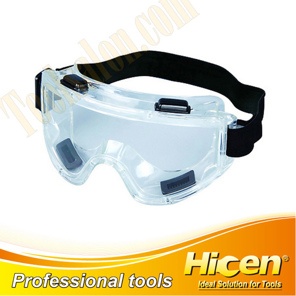 Transparent PC Lens Black Strap Safety Goggles