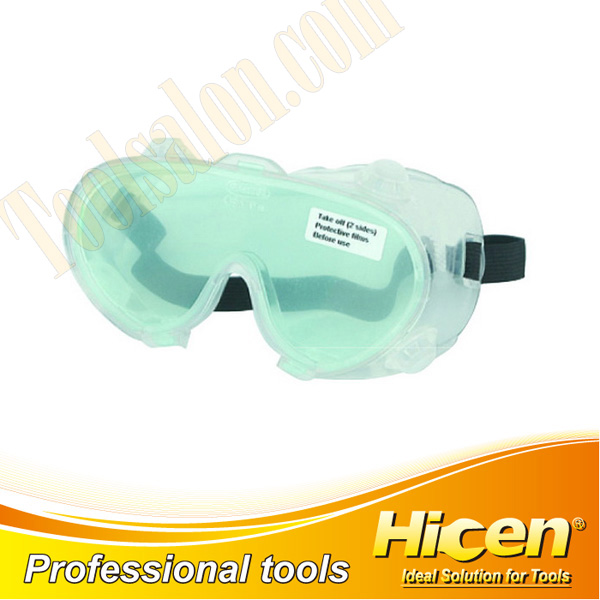 CE Approved Transparent PC Lens PVC Frame Soft Safety Goggles