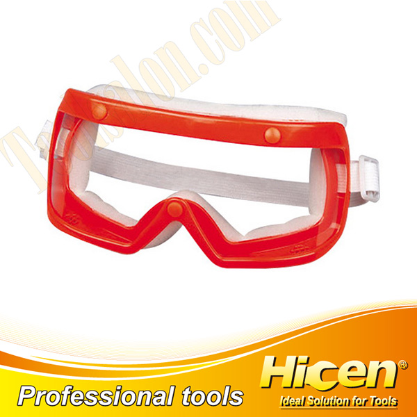 Transparent red frame and White Safety Goggles