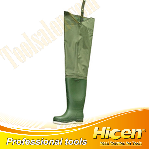 Nylon PVC Waterproof Hip Wader with Felt Sole
