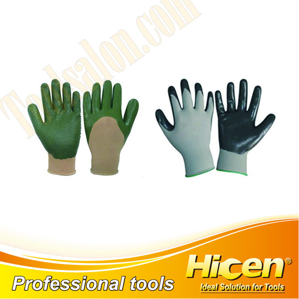 Oil Resistant Latex Coated Knit Wrist Working Gloves
