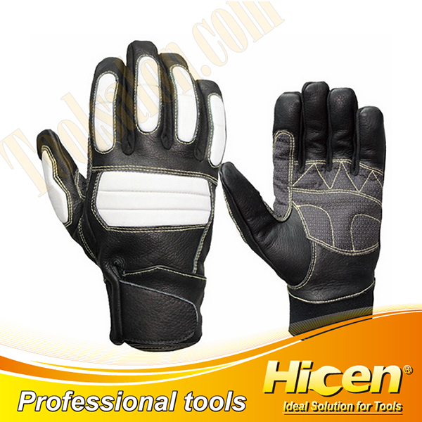 BIicycle & Motorcycle Cow Grain Leather Gloves