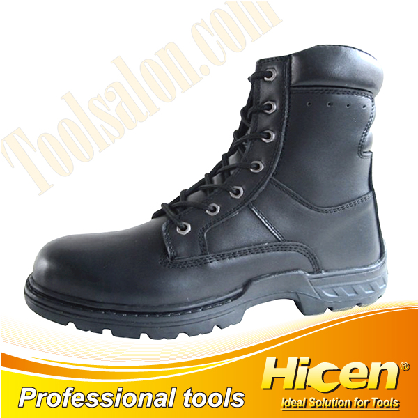 Black Full Grain Leather Safety Shoes