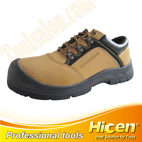 Khaki Nubuck Leather Safety Shoes