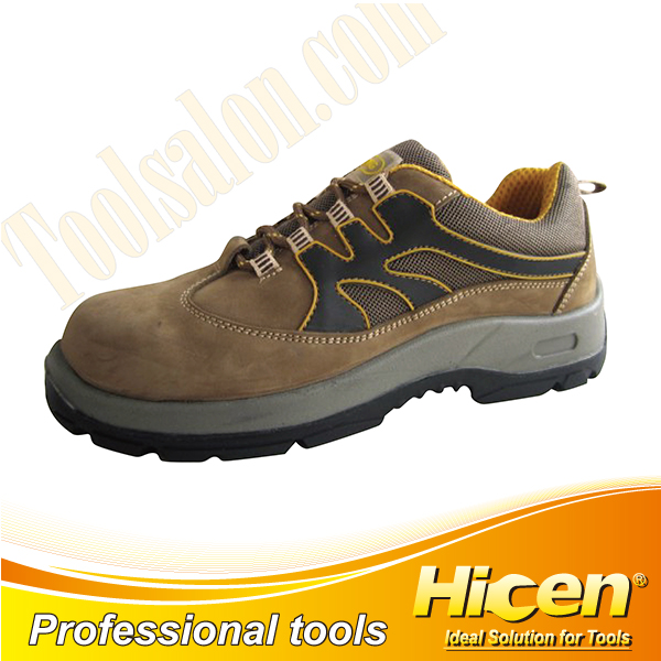 Olive Green Nubuck Leather Safety Shoes