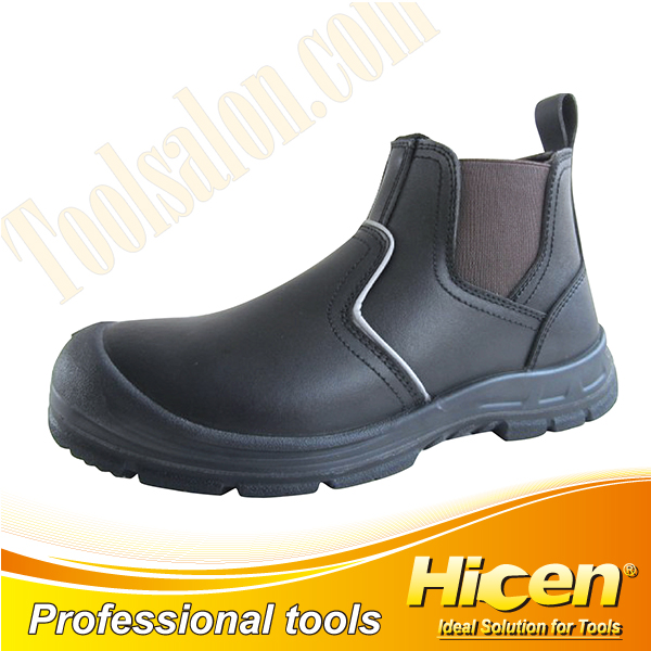 Corrected Grain Leather Safety Shoes