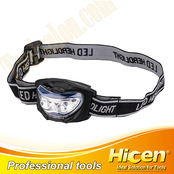 Adjustable 2 White LED And 1 Red Led Head Lamp