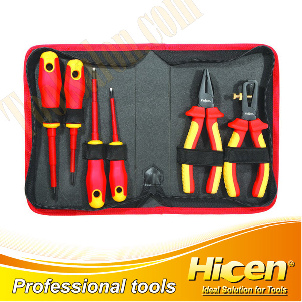 6 Pcs Insulated VDE Pliers and Screwdrivers Set