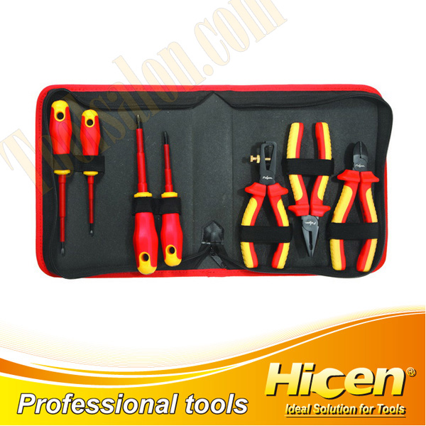 7 Pcs Insulated VDE Pliers and Screwdrivers Set