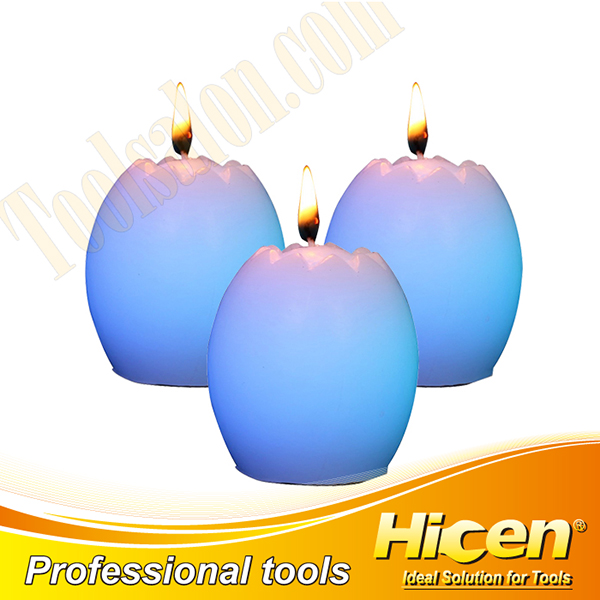 Non-toxic Wax Egg Shaped LED Candles For Halloween
