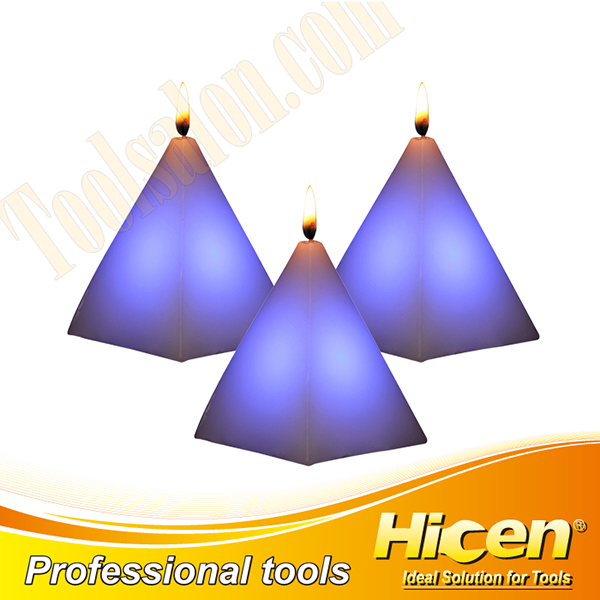 Non-toxic Wax Triangle LED Candles For Decoration
