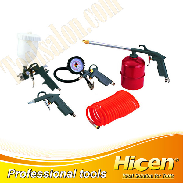 5pcs Air Tools Kit Suction/Gravity Spray Gun